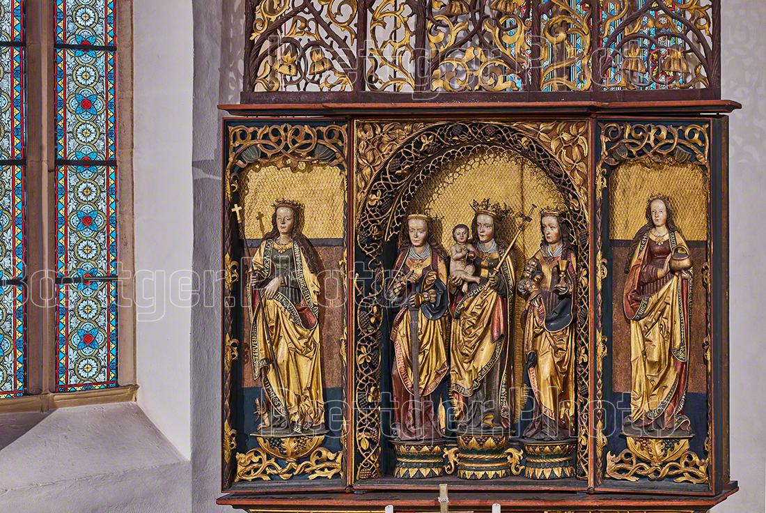 Kirche Dohna Altar unterer Teil