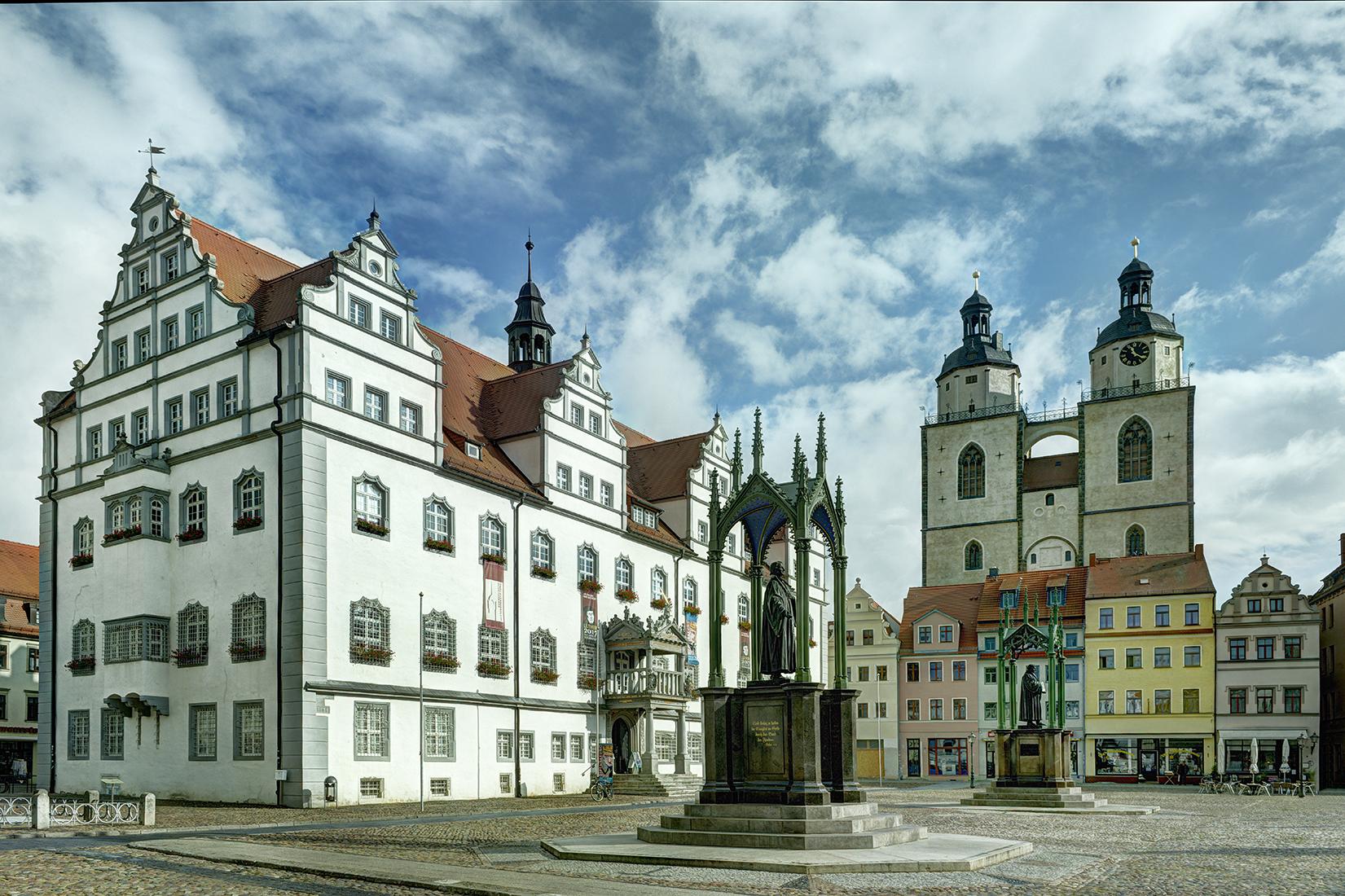 Wittenberg Marktplatz mit Stadtkirche