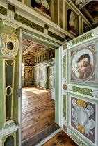 Hoflößnitz Blick ins Schlafzimmer der Kurfürstin