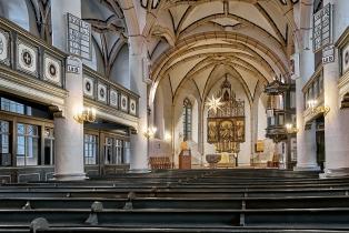 Kirche Dohna Mittelschiff Blick zur Orgel