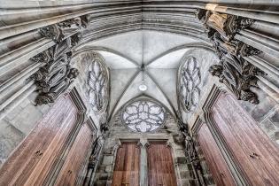 Dom Magdeburg Paradiesvorhalle Blick zur Decke