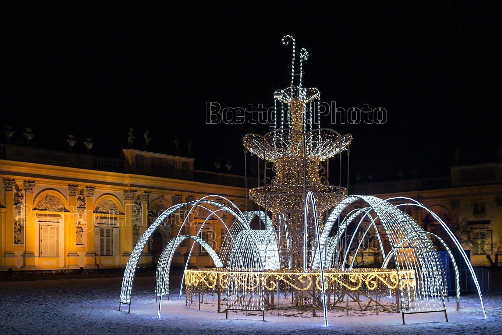 Schloß Wilanow-Warschau bei Nacht