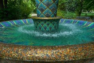 Großer Garten Dresden Mosaikbrunnen Detail