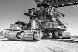 Großgerät im Tagebau