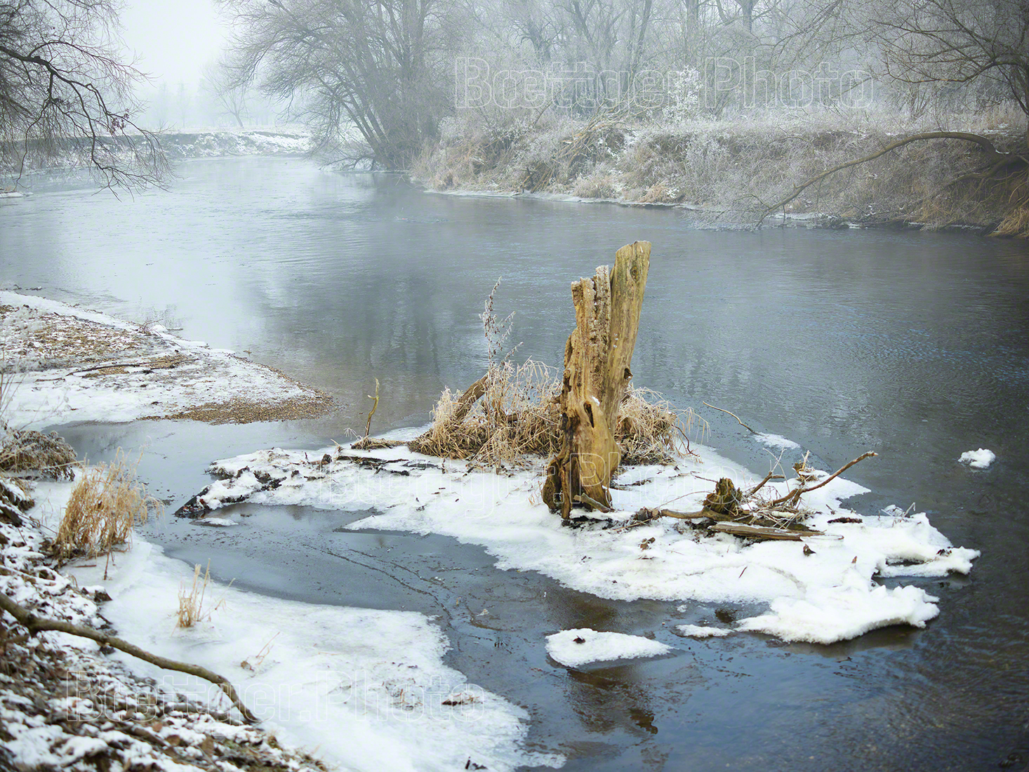 Winter an der Elster