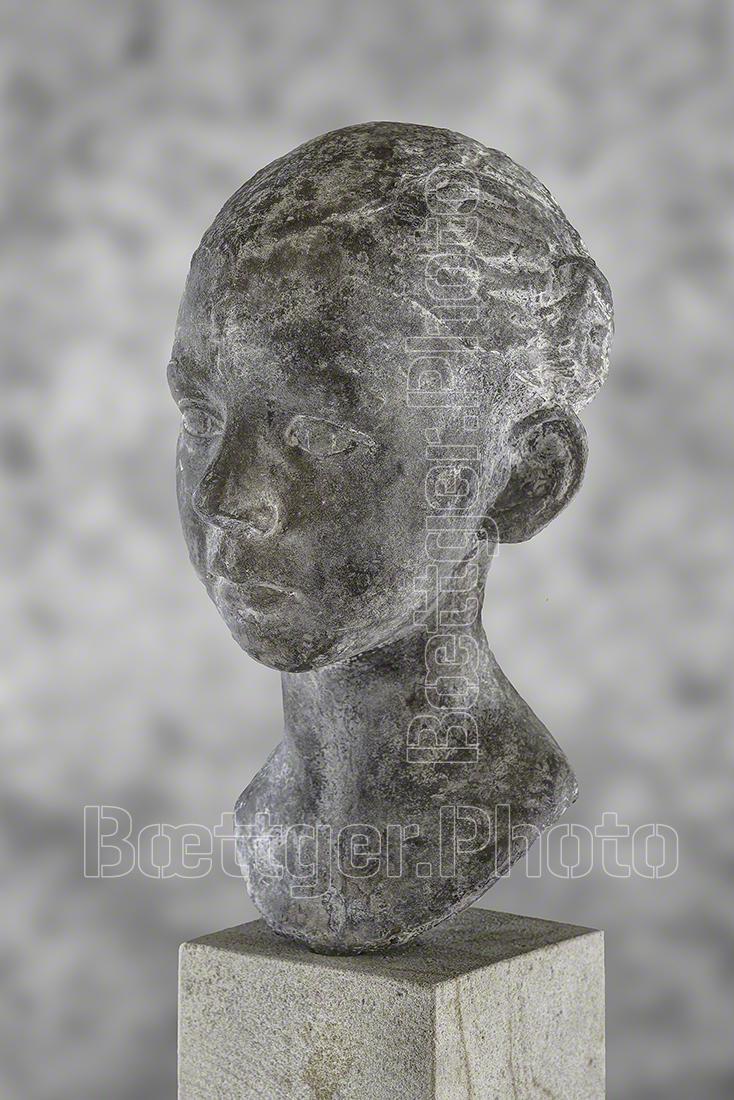 Grit Berkner Kopf aus Bronze