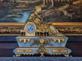 Schloss Blankenhain Herrenzimmer Kaminuhr