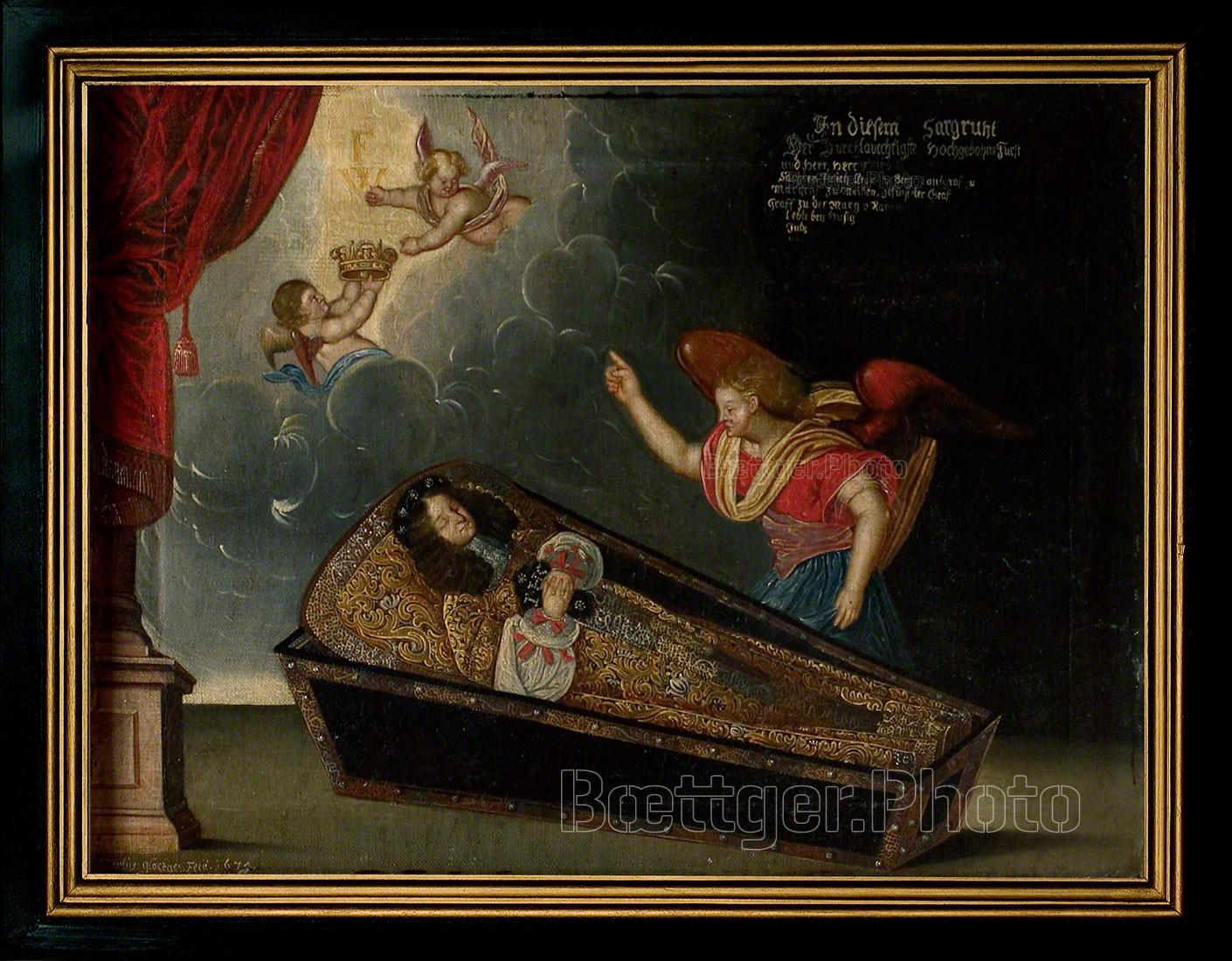 Totenbild Herzog Friedrich Wihelm II von Sachsen-Altenburg