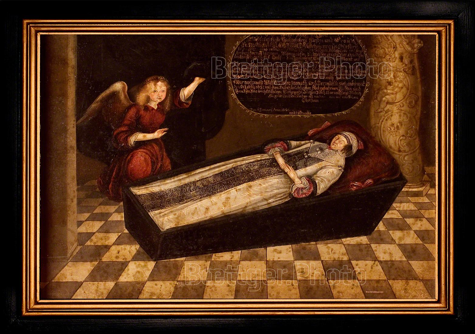 Totenbild Herzogin Magdalena Sibylla von Sachsen-Altenburg